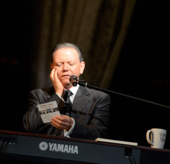 """Gerald Wolfe pondering one of those songs that """"Greater Vision doesn't sing!"""""""