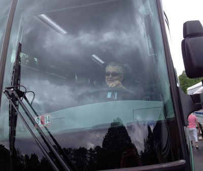Our bus driver, Ronnie